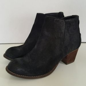 Dolce Vita Womens Black Leather Ankle Boots 8.5